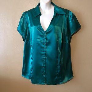 Lane Bryant green blouse size 18/20 Polyester